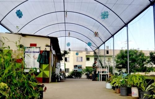 Viveiro Escola, onde acontece grande parte das atividades do Quebrada Sustentável